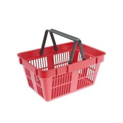 Cos cumparaturi din plastic 22 litri rosu