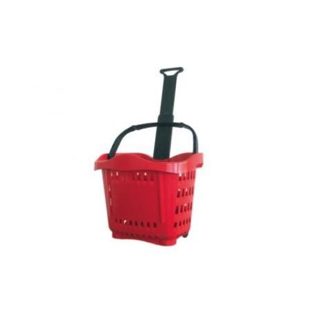 Shopping cart roller type plastic 22 liters