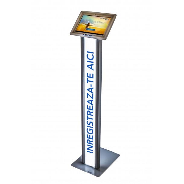 Sistem SIGN IN pentru vizitatori, cu tableta si stand