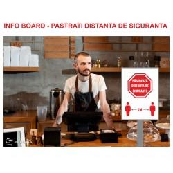 Info board - PASTRATI DISTANTA DE SIGURANTA