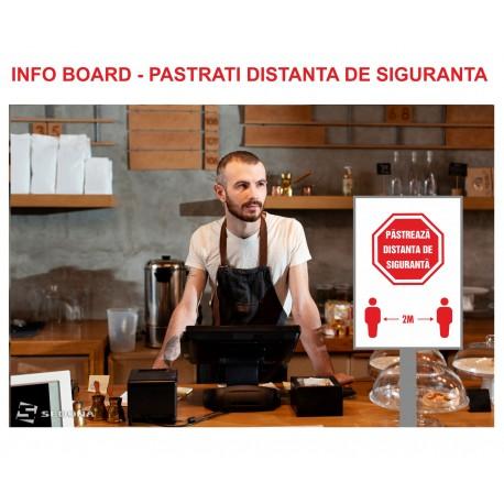 Info board - KEEP SAFETY DISTANCE