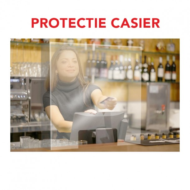 Protection Shield for Cashier - Fixed sides
