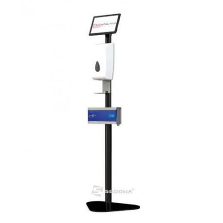 Floor Stand with Sanitizer Dispenser & Gloves Holder SN