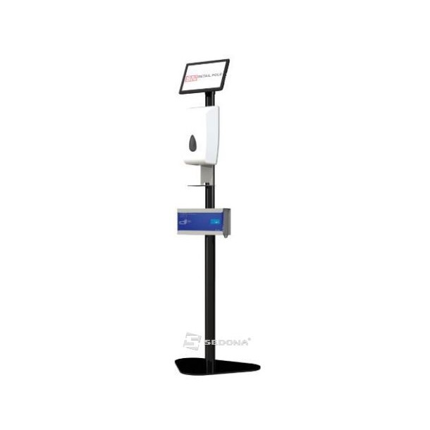 Automatic Floor Stand with Sanitizer Dispenser & Gloves Holder SN