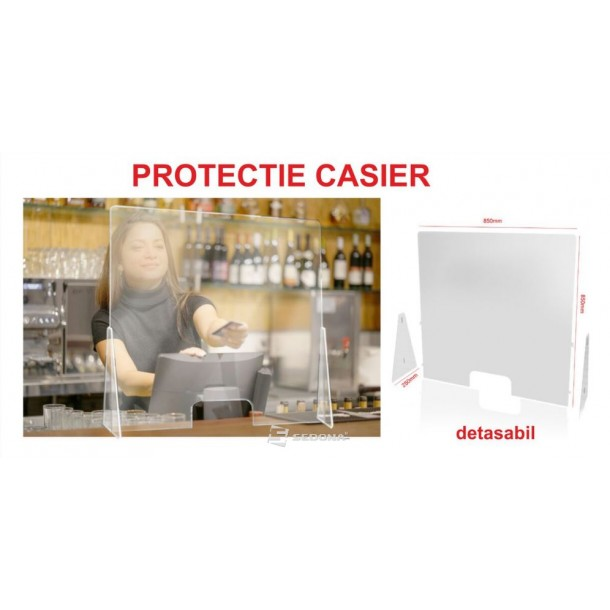 Protection Shield for Cashier - Removable side