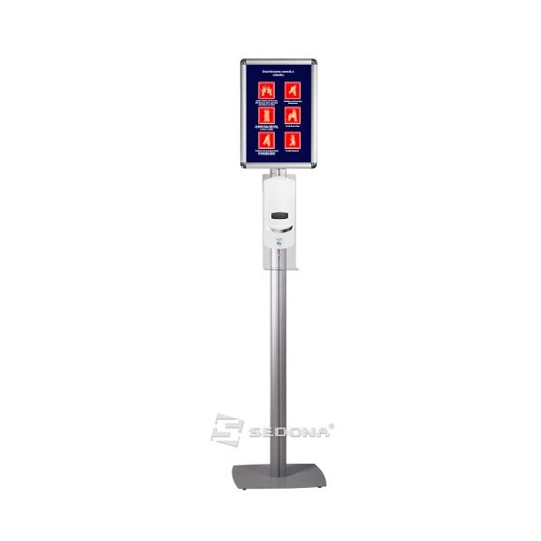 Floor stand with automatic dispenser and A3 click frame – Superior - IB390P
