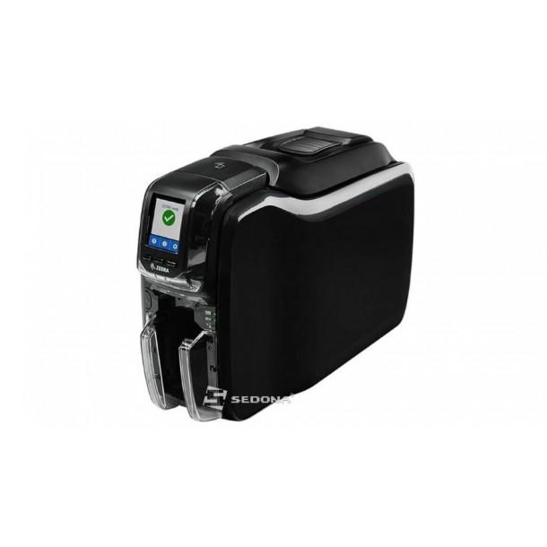 Zebra ZC350 card printer, single side, Ethernet, MSR, contactless