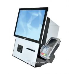 Self-checkout Aures Jazzsco cu imprimanta, scanner 2D si Windows 10
