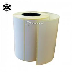 Rola etichete autocolante, transfer termic, rezistente la frig, 58 x 43 mm (1000 et.)