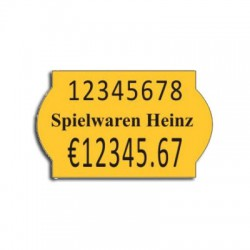 Price label gun 26 x 16 mm color labels