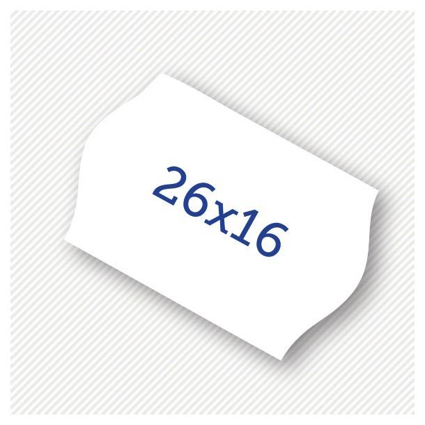 Etichete pret 26 x 16 mm albe