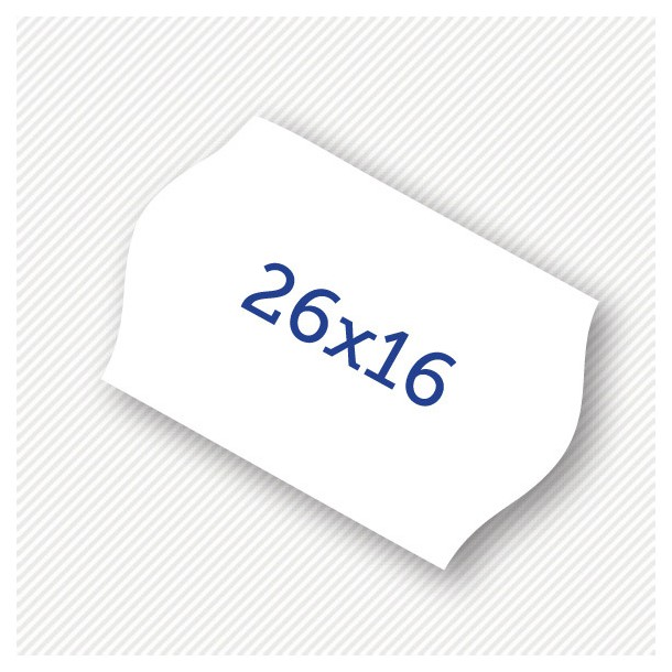 Price label gun 26 x 16 mm white labels
