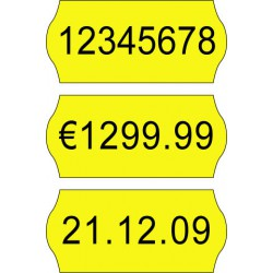 Price label gun 26 x 12 mm color labels
