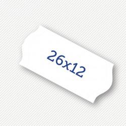 Price label gun 26 x 12 mm white labels