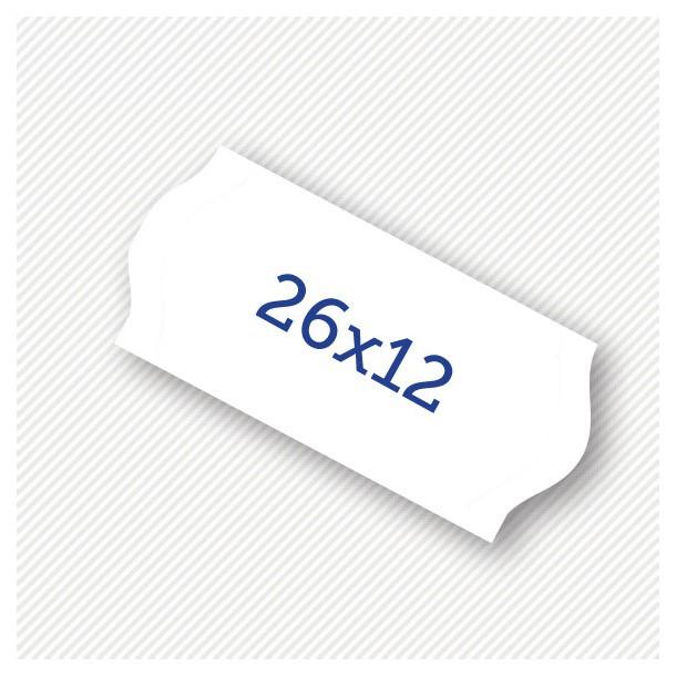 Etichete pret 26 x 12 mm albe