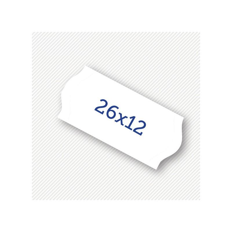 Etichete pret 26 x 16 mm albe - Sedona