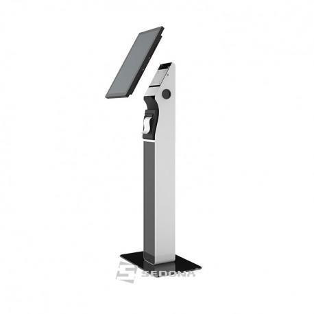 Stand Maken de podea pentru tableta, cu suport imprimanta, negru
