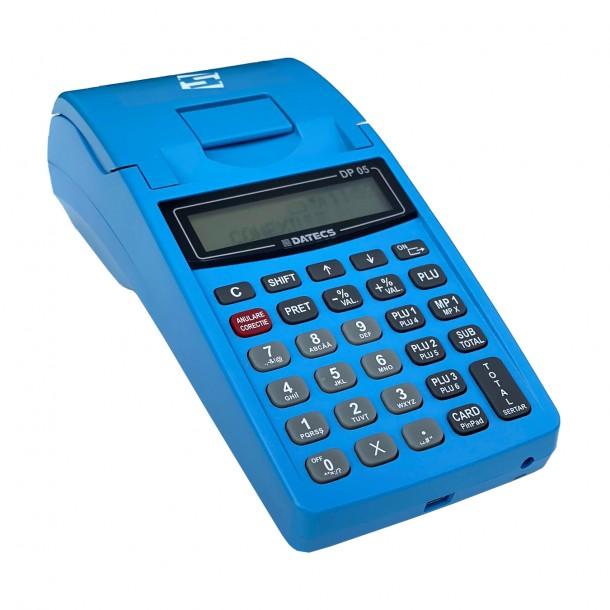 Casa de marcat portabila Datecs DP05 albastra