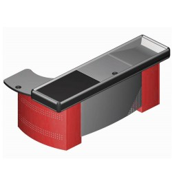 Cash register counter L shape with treadmill 210 cm
