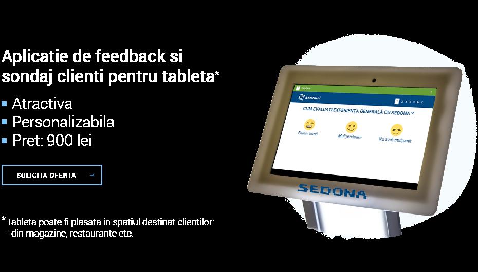 Aplicatie pentru feedback si sondaj clienti