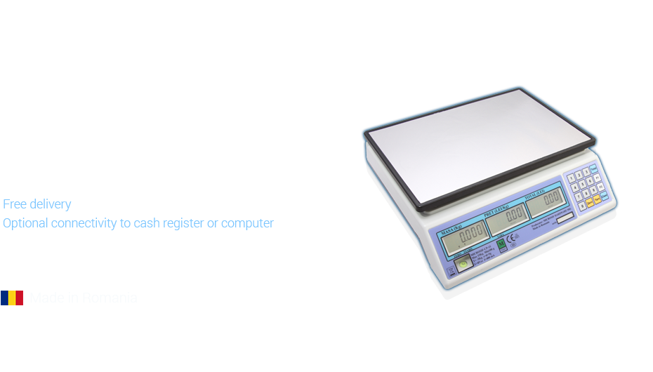 Electronic scale with battery and metrological approval Microsif