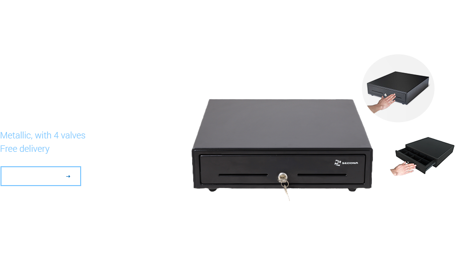 Cash drawer - Medium MK350T - Push to Open
