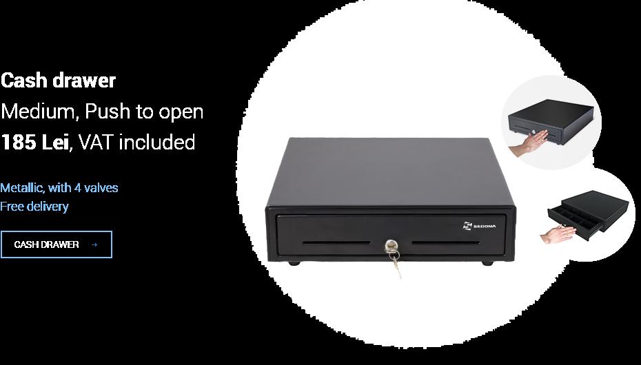 Cash drawer - Medium MK350T - Push to Open