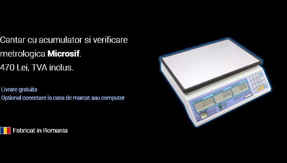 Cantar cu acumulator si verificare metrologica Microsif.