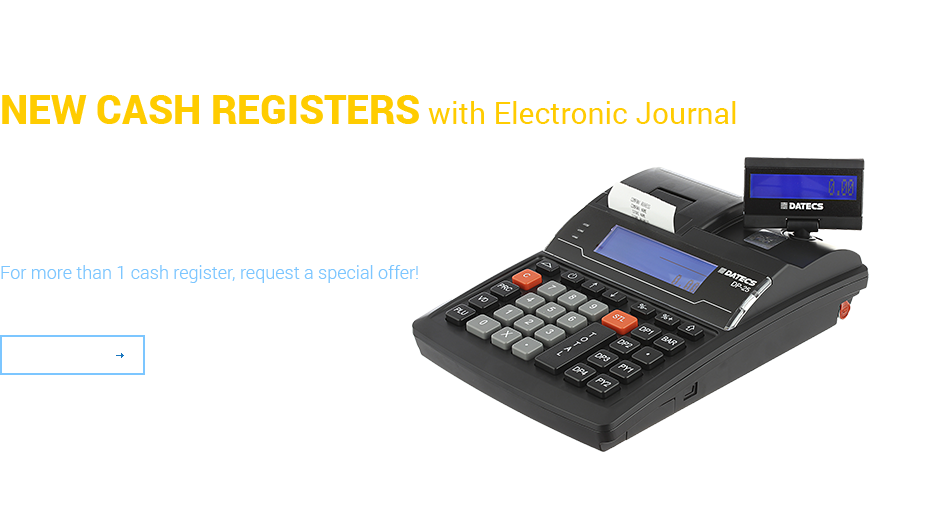 New cash register with electronic journal